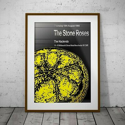 The Stone Roses 1985 Haçienda Concert Poster Three Print Option Or Framed Poster • 11.99£