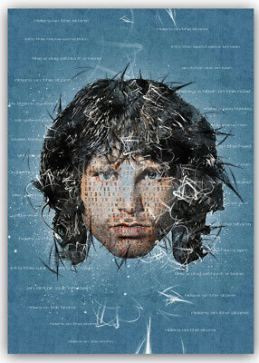 Jim Morrison Doors Ready To Hang Canvas Riders On The Storm Light My Fire • 27£