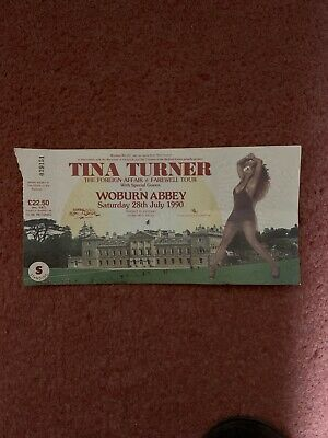 Tina Turner - 1990 Foreign Affair Tour Woburn Abbey Ticket Used • 11.75£