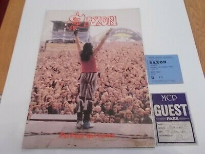 Saxon The Eagle Has Landed Tour Programme Ticket And Pass 82 • 14£