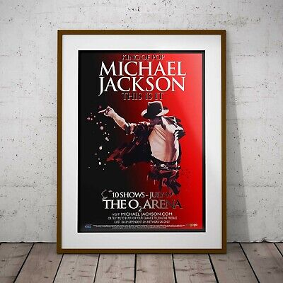 Michael Jackson This Is It Concert Poster Framed Or 3 Print Options NEW 2020 • 39.99£