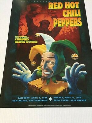 BGP 140 Red Hot Chili Peppers April 1996 Poster • 116.45£