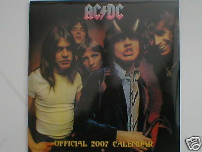 AC/DC The Official Calendar 2007 Still Sealed Collectors Item NEW Angus Young • 14.95£