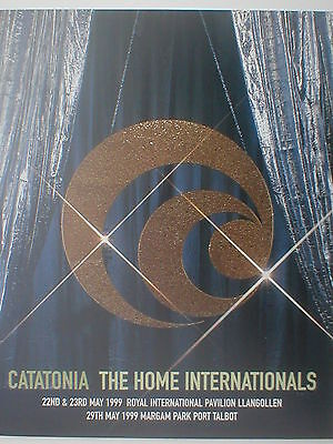 CATATONIA The Home Internationals 1999 Event Programme 20 Pages Incl IAN BROWN • 14.95£