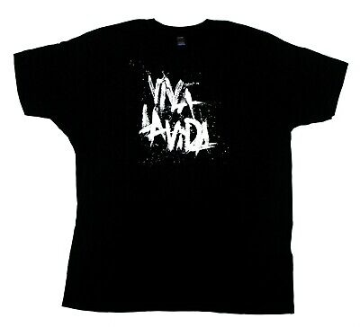 Coldplay Tultex Viva La Vida Logo Concert Tour T-Shirt - Black - XL • 15.95£