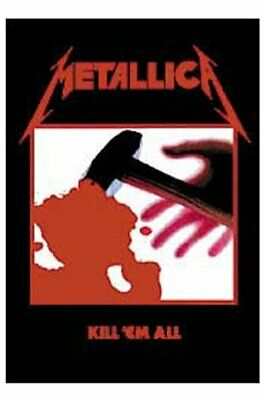 METALLICA Textile Poster Fabric Flag KILL EM ALL • 9.99£