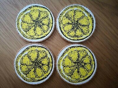 The Stone Roses 'lemon' Wooden Drink Coasters Set Of 4 Non Slip • 12£