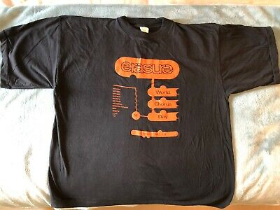 Erasure World Chorus Day T Shirt MEGA RARE!! • 50£
