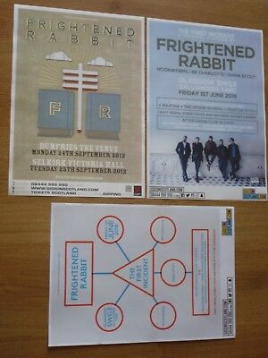 Frightened Rabbit - Collection Of Scottish Tour Show Concert Gig Posters X 3 • 10.99£