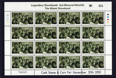 2010  Dx295  Cork   Exhibition  Music  The  Miami  Showband  Sheetlet  Scarce • 15.99£