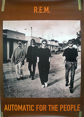 R.e.m. Automatic For The People 1992 Vintage Music Record Store Promo Poster • 22.22£