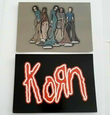 2 X KORN - OFFICIAL POSTCARDS - 2000 • 1.99£