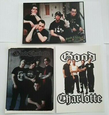 3 X GOOD CHARLOTTE - OFFICIAL POSTCARDS - 2002 / 03. MADE  • 1.99£