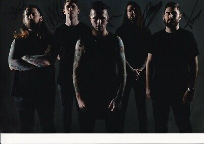 Bury Tommorow Hand Signed 12x8 A4 Photo - Heavy Metal, Band • 19.99£