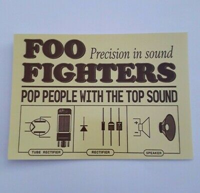 Foo Fighters - Official Postcard - 2003 (dave Grohl / Nirvana) • 1.99£