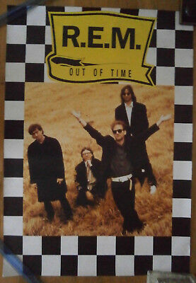 R.e.m. Out Of Time Promo Poster, Rolled 84 By 60 Cms Original  • 20£