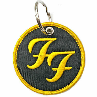 FOO FIGHTERS  Official Fabric Keyring NEW  • 6.99£