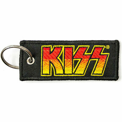 KISS Official Fabric Keyring NEW - CLASSIC LOGO • 6.99£