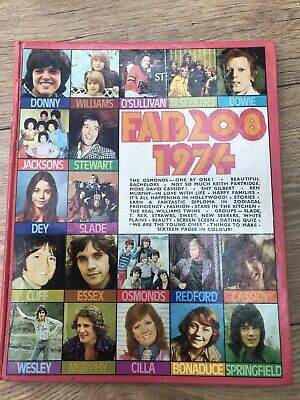Fab 208 Pop Annual 1974 Unclipped Donny, Bowie, Springfield • 8£