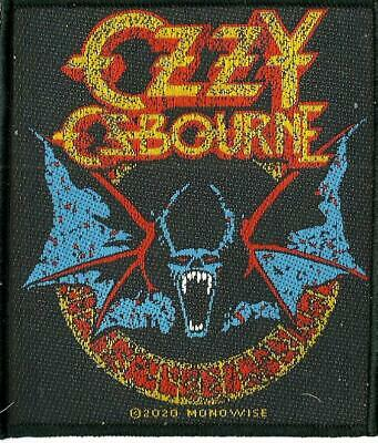 OZZY OSBOURNE Bat 2020 WOVEN SEW ON PATCH Official Merchandise • 3.95£