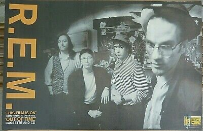 Rare Rem Out Of Time 1991 Vintage Original Music & Video Store Promo Poster • 22.51£
