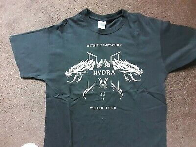 Within Temptation T Shirt From The Hydra Tour Size Large Dates On Back • 12£