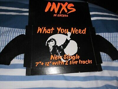 Inxs   What You Need,  Record Store Promo Counter Display • 18£