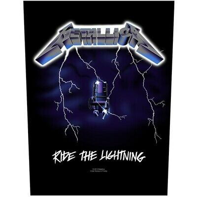 METALLICA Backpatch Back Patch RIDE THE LIGHTNING • 5.95£