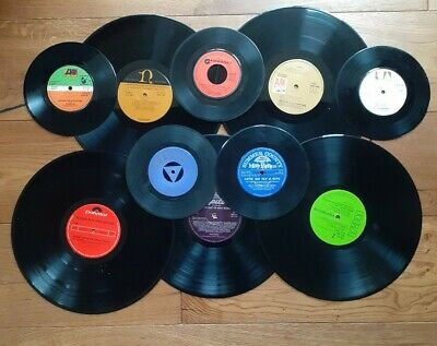 Job Lot Of 5 X 12 Inch And 5 X 7 Inch Vinyl Records For Craft Upcycling Projects • 3.75£