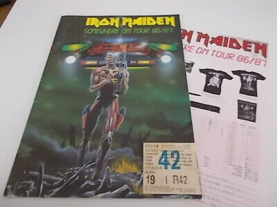 Iron Maiden Somewhere Back In Time Tour 1986/87 Programme And Ticket  • 29.99£