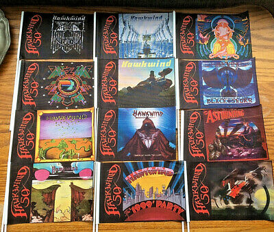 Hawkwind 50th Anniversary Complete Set 12 Flags • 49.99£