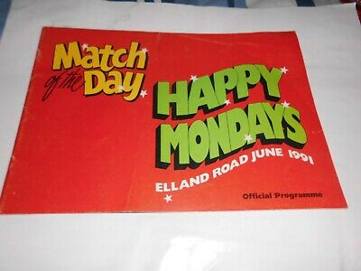 Happy Mondays - Match Of The Day - Leeds 1991  Programme • 8£