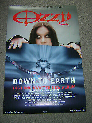 Original Ozzy Osbourne Promotional Poster - Down To Earth • 5.95£