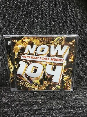 NOW THAT'S WHAT I CALL MUSIC!  104  (2 CD ALBUM) NEW & SEALED. Freepost In Uk • 5.95£