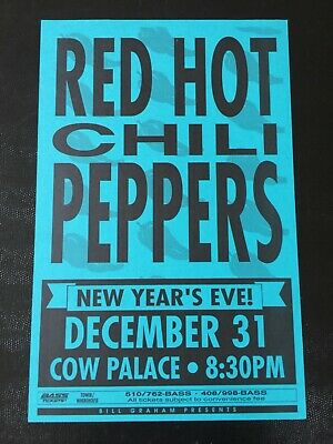 Red Hot Chili Peppers Nirvana Pearl Jam New Year's 1991 VINTAGE Concert Poster • 177.33£