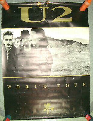 U2 JOSHUA TREE TOUR Giant Poster 60 X 40 Inches LONDON 1987 Bono EDGE Larry ADAM • 100£