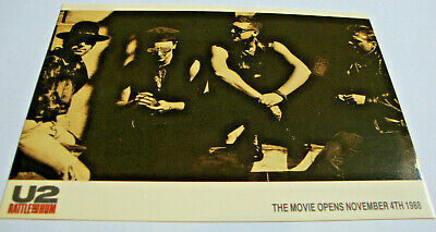 U2 RATTLE AND HUM Postcard Flyer FAN CLUB Promo November 1988 Anton Corbijn • 30£