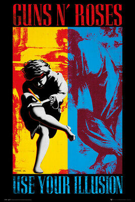 GUNS N ROSES Textile Poster Fabric Flag USE YOUR ILLUSION • 9.99£