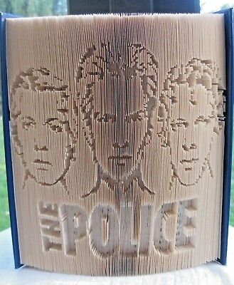 The Police - Folded Book Art - Sting, Andy, Stewart - Portraits - Unique Gift • 35.99£