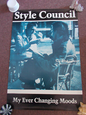 Style Council / Weller My Ever Changing Moods, Original 1985 Promo Poster, Mod • 35£