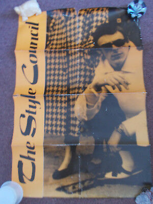 Style Council Early Rare & Original Polydor Promo Poster From 1983, Mod, Weller • 30£