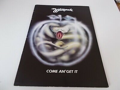Whitesnake Come And Get It 1980 Tour Programme • 12£
