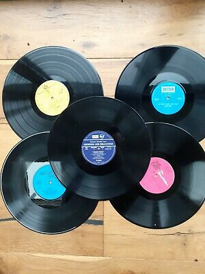 Job Lot Of 5 X 12 Inch LP Vinyl Records For Craft, Upcycling Projects Etc  • 2£