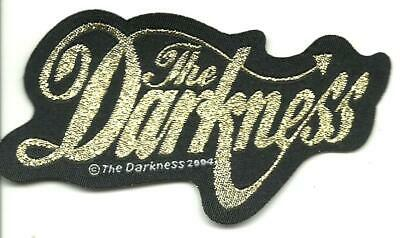 DARKNESS Gold Glitter Logo Shaped 2004 - WOVEN SEW ON PATCH  • 4.99£