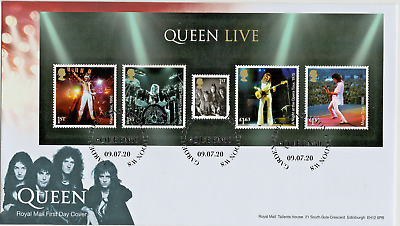 2020 QUEEN LIVE Mini Sheet GB FIRST DAY COVER Garden Lodge W8 FDC *NICE* 9.7.20  • 7.99£