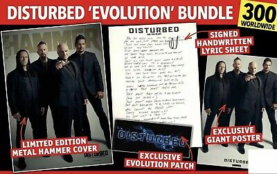 EXTREMELY RARE - Disturbed Limited Edition Metal Hammer Magazine, Unopened • 25£
