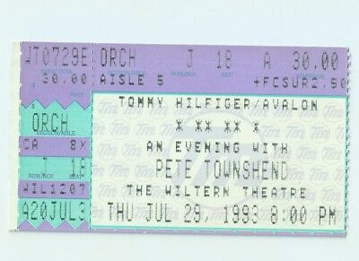 Pete Townshend Concert Ticket 29 July 1993 The Who • 5£