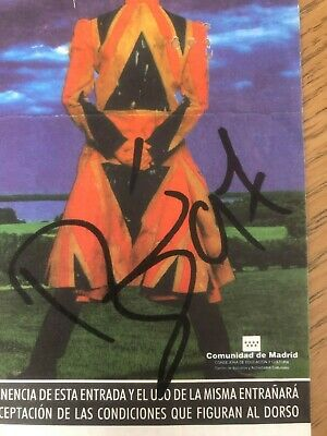 David Bowie - Signed Ticket - Nice 1997 Autograph On Madrid 15 July 1997 Ticket • 150£