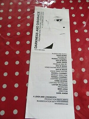 David Bowie - Tribute Darkness & Disgrace 2003 Official Proogramme - London  • 5£
