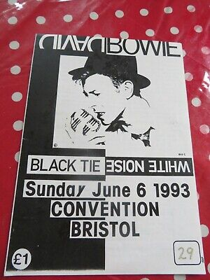 David Bowie - UK Convention - 1993 - Bristol - Official Programme  • 5£